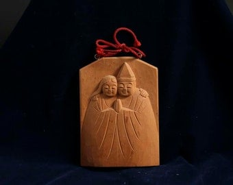 Takasago,wood sculpture,wooden statue,hand carved,Japanese cypress