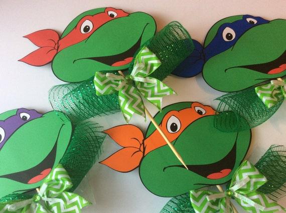 teenage mutant ninja turtles centerpiece stick birthday decoration