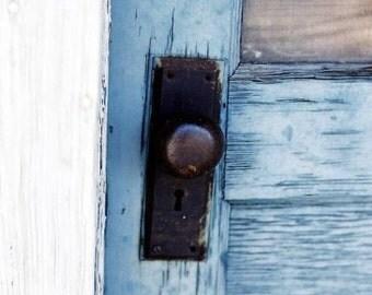Blue Door Photograph - Jerome, AZ - FREE Shipping!