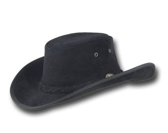 VE Adventures Suede Leather Cowboy Hat 3025BL - Black