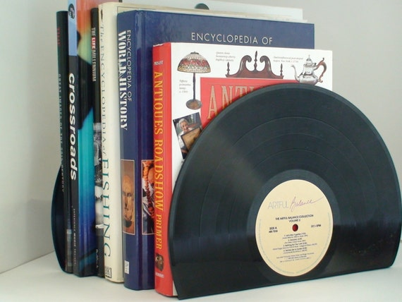 Vinyl Record Bookends Vintage Bookends for the music by ...