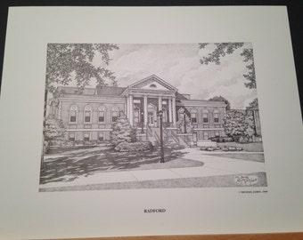 Radford University 11x14 Print
