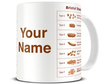 Nurse Mug - Nurse Gifts - Med Student Gifts - Personalised Bristol Stool Chart Mug - Funny Nurse Gift - Student Nurse Gifts - MG097