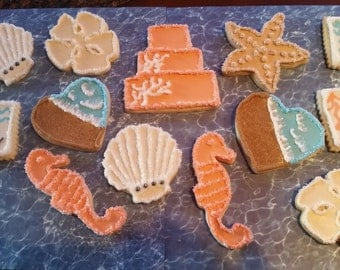 Dozen Beach Themed Cookies