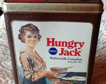 Vintage Pillsbury Hungry Jack Buttermilk Pancake tins 1984