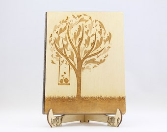 Guest Book Wood, Wedding Tree with Love Birds Guest Book, Wedding Tree Guest Book, Wood Tree Guest Book, Rustic Guestbook, Hearts Guest Book