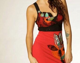 Robe festive rouge - Red festive dress
