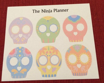 Sugar Skull Full Box Stickers