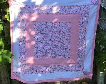 100% Flannel Baby Quilt - homemade