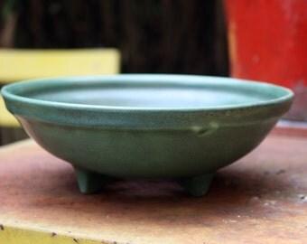 Colander green stoneware