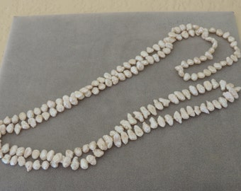 Vintage Cream Freshwater Rice Pearl Necklace