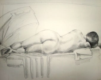 Lucile, graphite on drawing paper