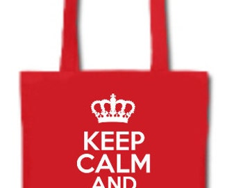 Keep Calm And Go Shopping Lightweight Tote Bag