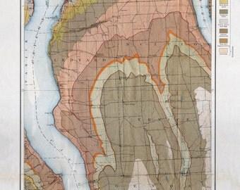 Cayuga and Owasco Lake Geological Map - 1899