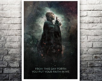 Lord Voldemort Harry Potter movie poster print
