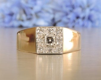 Square Cluster Diamond Ring / Anniversary / Husband / Birthday / Christmas / Gift / Transcend Fine Jewellery SKU # VRUYD-001