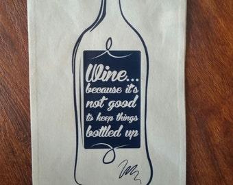 Wine Canvas Tote