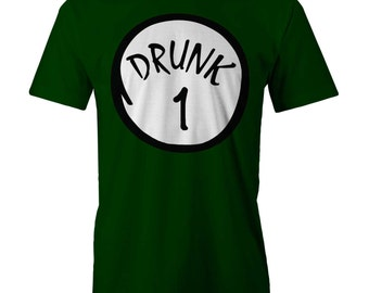 Drunk 1 T-shirt Funny  Irish Clover Drinking Beer