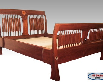 Arts & Crafts Style Sleigh Bed