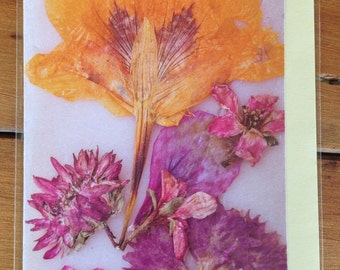 Bouquet flower card