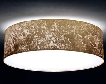 Ceiling lamp, D.40 cm, gold leaf optics