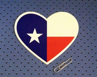 I Love Texas Bumper Sticker - Texas Heart