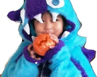 Bonnet and Cape Monster costume boy