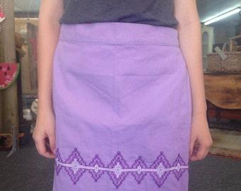 Pretty purple vintage half apron