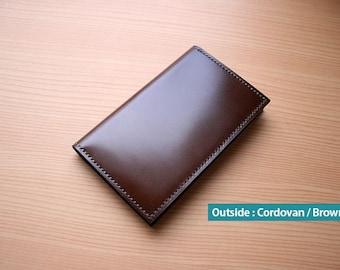 Shell Cordovan Card Wallet / 100% Handmade
