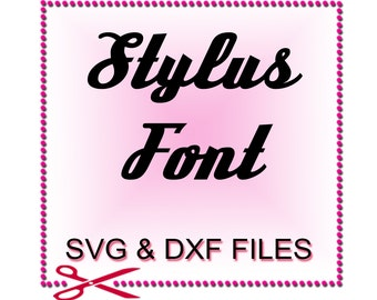 Script Font SVG - Font Design Files For Use With Your Silhouette