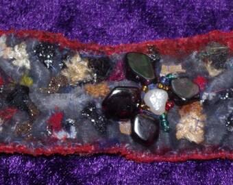 Quirky Brooche Broche Brooch Pearl Textile Thread Colorful