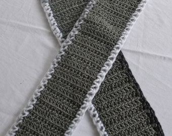 Crochet Scarf - Shades of Grey