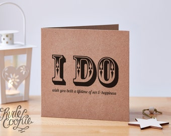 Funny wedding or engagement card