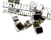 20 pcs Thai Karen Hill Tribe Silver Square Beads, 3.2mm, Fair Trade, fine silver, jewellery making, silver beads