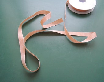 Cotton Tape | Chambray Gros Grain | Cotton | 15 mm | 5/8'' | apricot