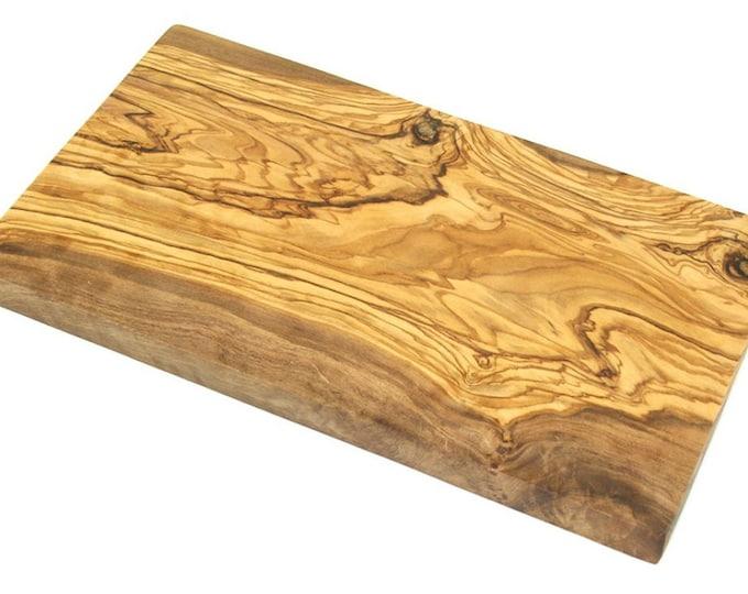 Breakfast Board made of olive wood 25 x 15 cm Vesper chopping board unique massive