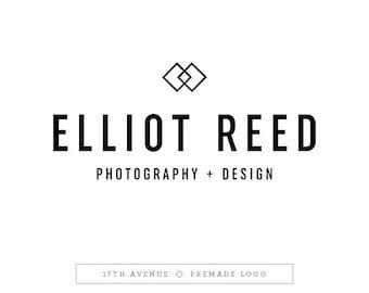 """Premade Logo Design - Modern Masculine Logo - Photography Logo - Boutique Logo - Small Business Logo - """"Elliot"""" Deluxe"""