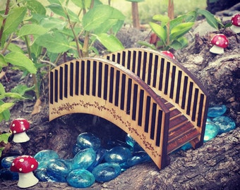 Miniature Bridge - Fairy Garden Accessories  - Fairy Garden Bridge - Wooden Bridge - Terrarium miniatures - Fairy Garden