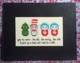 Dr Seuss Cat In The Hat Framed Cross Stitch