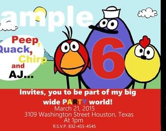 U print Invitation (peep and the big wide world)