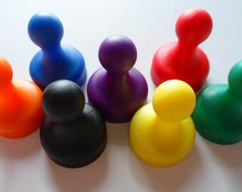 Very Strong Magnets Neodymium x 7 Pack for Office Fridge White Board Skittle Pin Memo Board Plastic