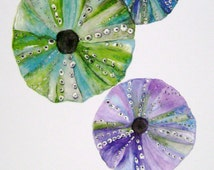 "Watercolor Print ""Sea Urchins"", Marine Life Underwater Art Artist Picture Decor Coastal Beach"