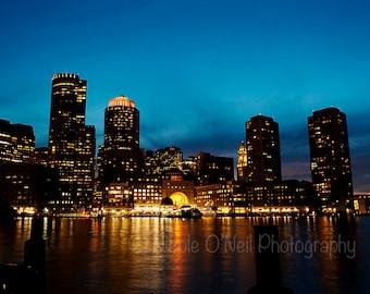 11x14 Print Boston Night Skyline