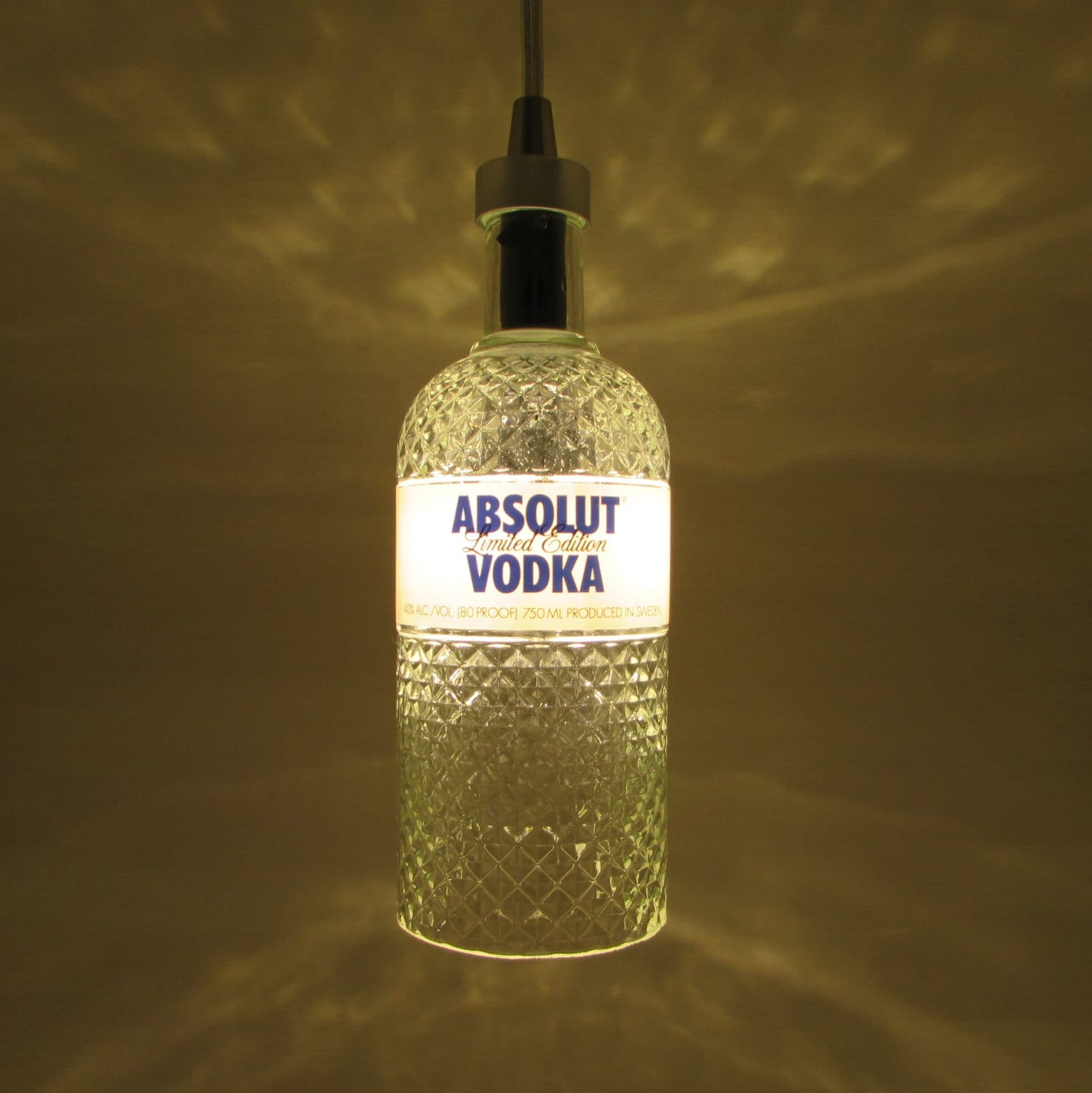 750 ml absolut vodka pendant light diamond cut by. Black Bedroom Furniture Sets. Home Design Ideas