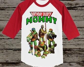 Ninja Turtles Mom Shirt - TMNT Mom Shirt - Any Wording Available