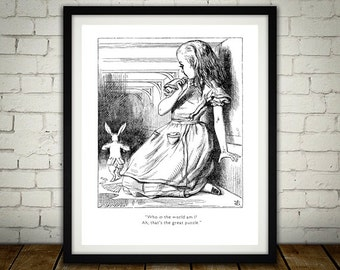 Who In The World Am I - Traditional Alice In Wonderland Art
