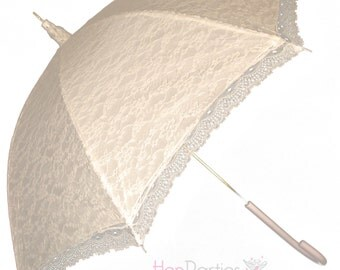 Victorian ivory, black or white lace umbrella/parasol for  bridal weddings or race days