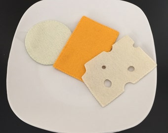 Pretend Felt Food Cheese Platter