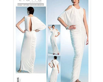 Vogue Lialia sewing pattern - abstract Grecian dress - Size 6-8-10-12-14