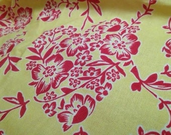 FREE SHIPPING! 14 Yards!! Hey Sugar Fabric by Cosmo Cricket!! Yellow & Red Flower Hearts